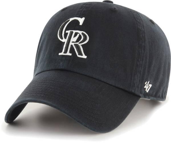 '47 Men's Colorado Rockies Black Clean Up Adjustable Hat product image