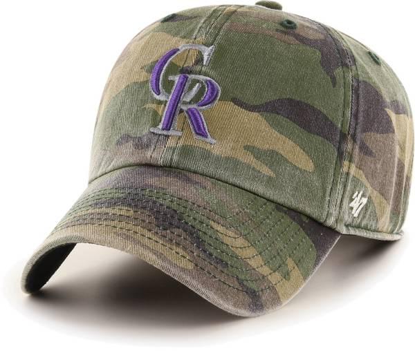 '47 Men's Colorado Rockies Camo Clean Up Adjustable Hat product image