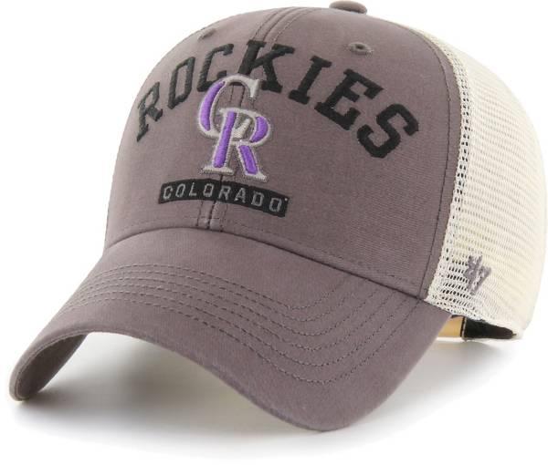 '47 Men's Colorado Rockies Gray Brayman Snap MVP Adjustable Hat product image