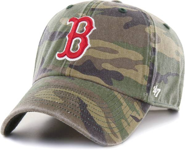 '47 Men's Boston Red Sox Camo Clean Up Adjustable Hat product image