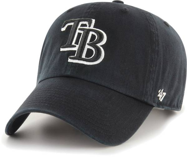 '47 Men's Tampa Bay Rays Black Clean Up Adjustable Hat product image