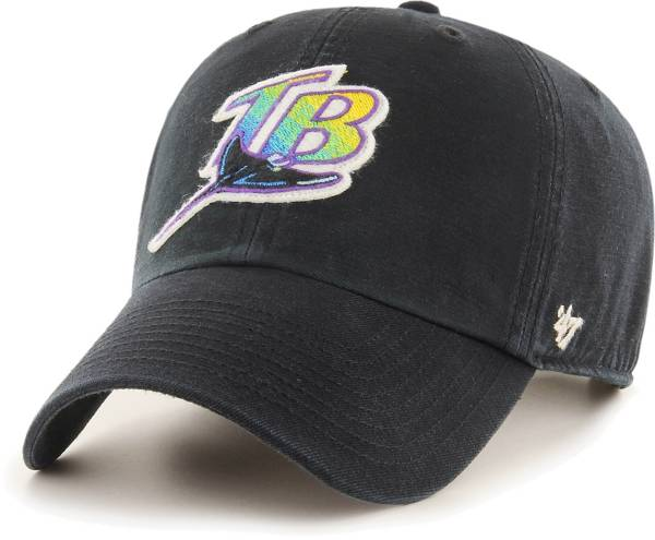 '47 Men's Tampa Bay Rays Black Mclean Clean Up Adjustable Hat product image