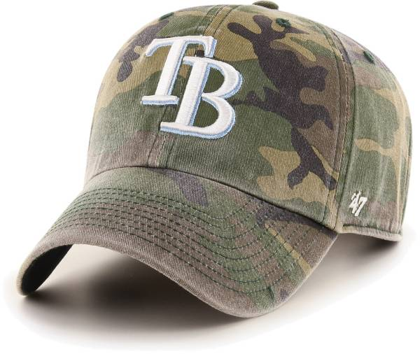 '47 Men's Tampa Bay Rays Camo Clean Up Adjustable Hat product image