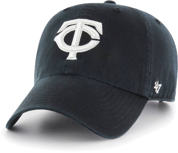 '47 Men's Minnesota Twins Black Clean Up Adjustable Hat product image