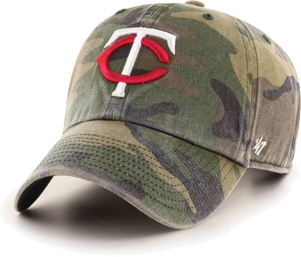 '47 Men's Minnesota Twins Camo Clean Up Adjustable Hat product image