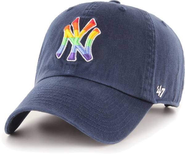 '47 Men's New York Yankees Navy Pride Clean Up Adjustable Hat product image