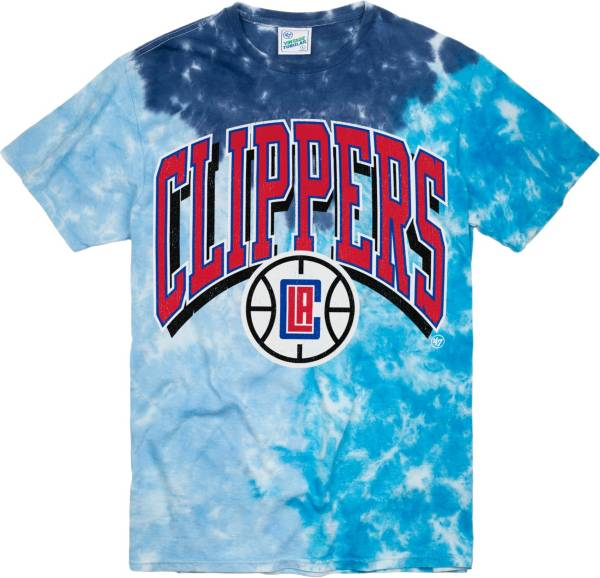 '47 Men's Los Angeles Clippers Blue Tri Dye Vintage Tubular T-Shirt product image
