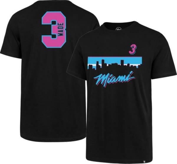 '47 Men's Miami Heat Dwyane Wade #3 City Edition T-Shirt product image