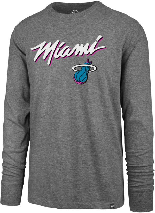 '47 Men's Miami Heat City Edition Long Sleeve T-Shirt product image
