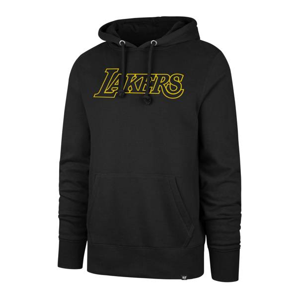 '47 Men's Los Angeles Lakers Scripted Black Pullover Hoodie product image