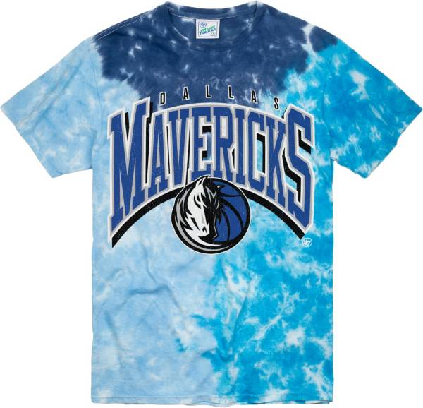 '47 Men's Dallas Mavericks Blue Tri Dye Vintage Tubular T-Shirt product image