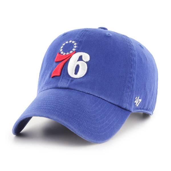 '47 Men's Philadelphia 76ers Blue Clean Up Adjustable Hat product image