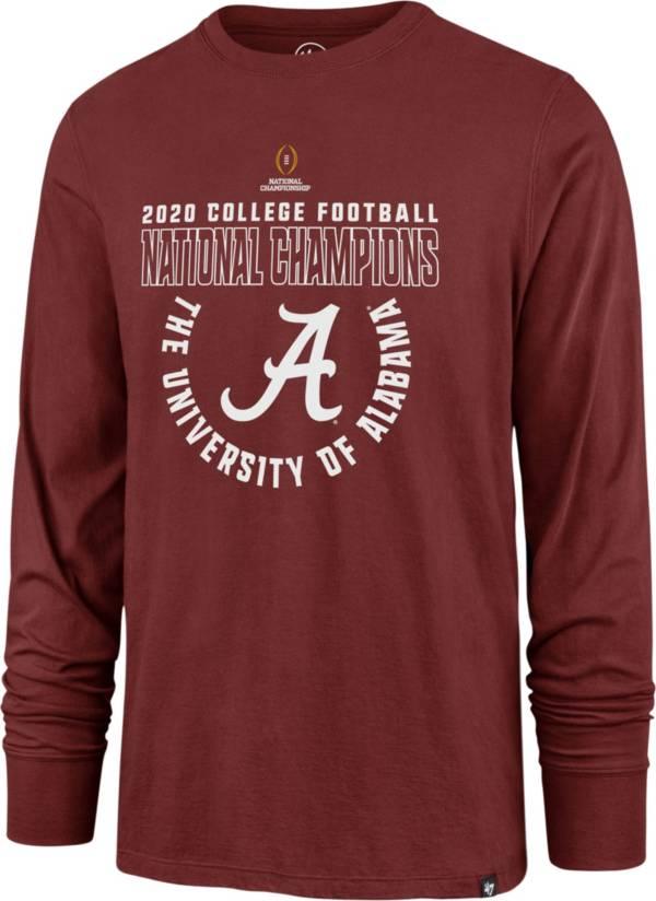 '47 Men's 2020 National Champions Alabama Crimson Tide Long Sleeve T-Shirt product image