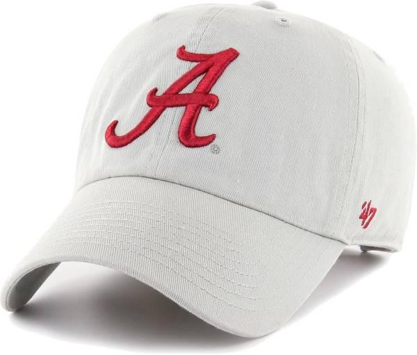 '47 Men's Alabama Crimson Tide Grey Clean Up Adjustable Hat product image