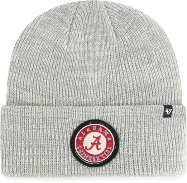 '47 Men's Alabama Crimson Tide Grey Plainfield Cuffed Knit Beanie product image