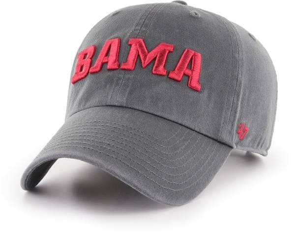 '47 Men's Alabama Crimson Tide Grey Script Clean Up Adjustable Hat product image