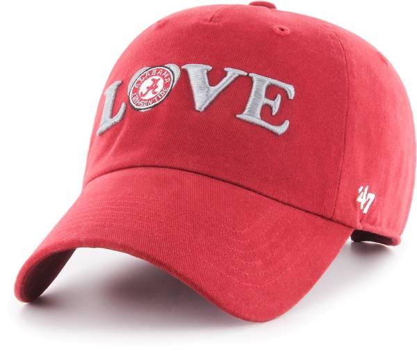 '47 Women's Alabama Crimson Tide Crimson Love Script Clean Up Adjustable Hat product image
