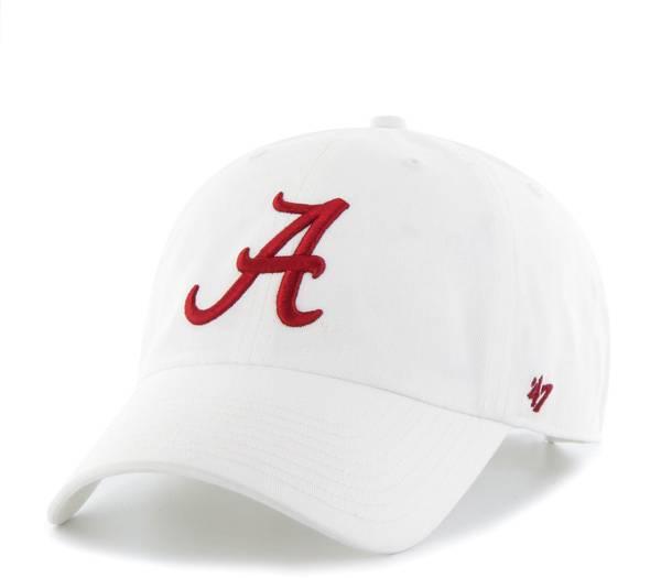 '47 Men's Alabama Crimson Tide Clean Up Adjustable White Hat product image