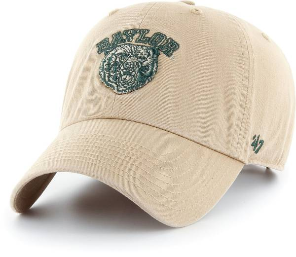 '47 Men's Baylor Bears Khaki Clean Up Adjustable Hat product image
