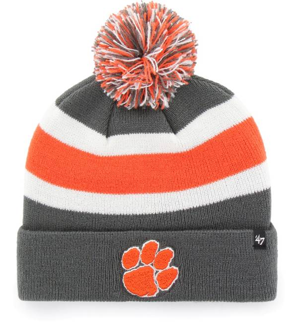 '47 Men's Clemson Tigers Grey Breakaway Cuffed Knit Hat product image