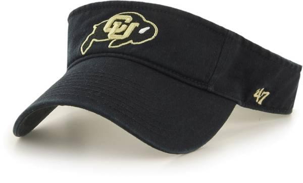 '47 Men's Colorado Buffaloes Clean Up Adjustable Black Visor product image