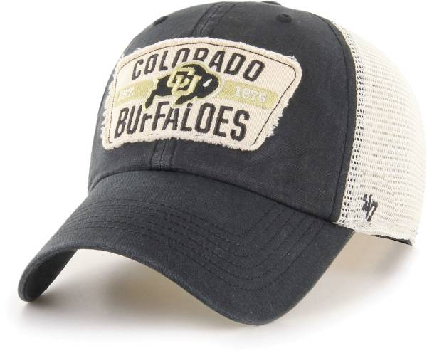 '47 Men's Colorado Buffaloes Crawford Clean Up Adjustable Black Hat product image