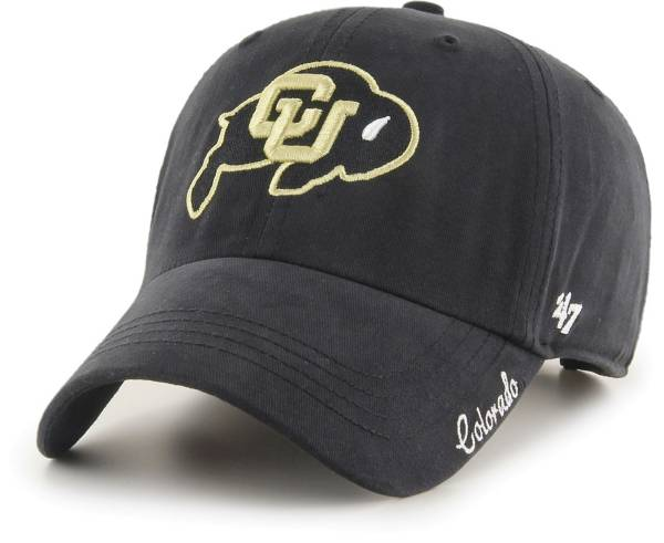 '47 Women's Colorado Buffaloes Miata Clean Up Adjustable Black Hat product image