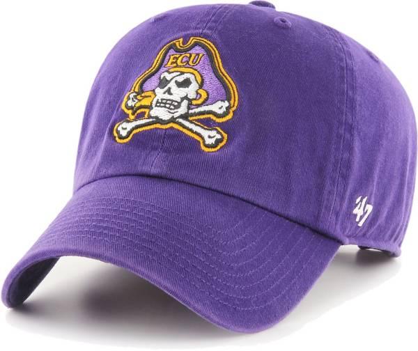 '47 Men's East Carolina Pirates Purple Clean Up Adjustable Hat product image