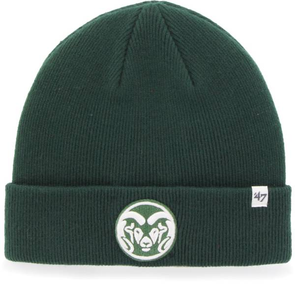 '47 Men's Colorado State Rams Green Raised Cuffed Knit Beanie product image
