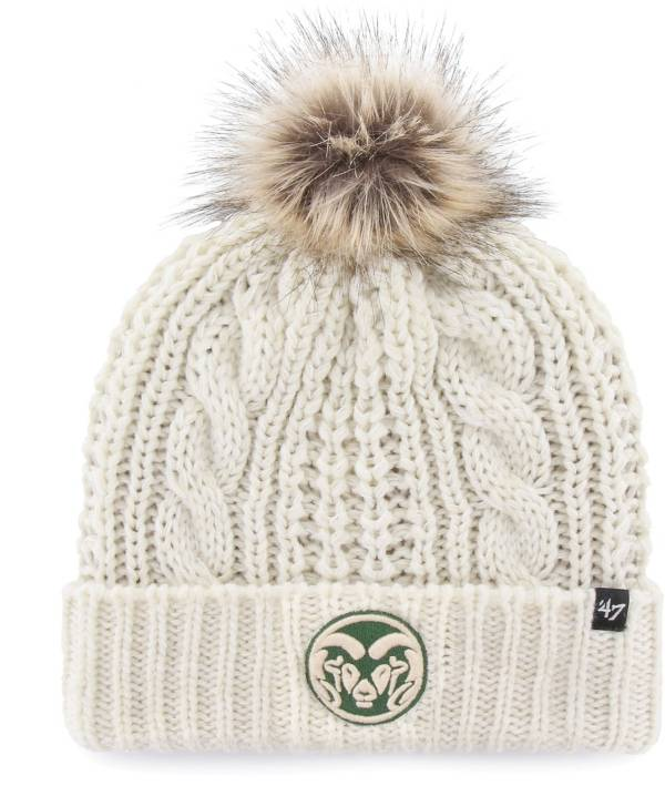 '47 Women's Colorado State Rams White Meeko Cuffed Knit Hat product image