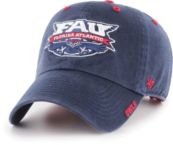 '47 Men's Florida Atlantic Owls Blue Ice Clean Up Adjustable Hat product image