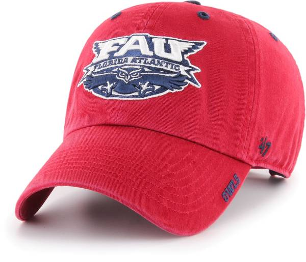 '47 Men's Florida Atlantic Owls Red Ice Clean Up Adjustable Hat product image