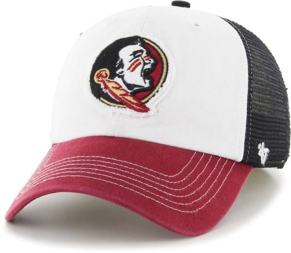 '47 Men's Florida State Seminoles Privateer Closer Fitted White Hat product image