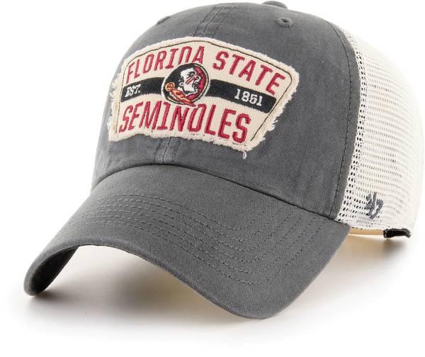 '47 Men's Florida State Seminoles Grey Crawford Clean Up Adjustable Hat product image