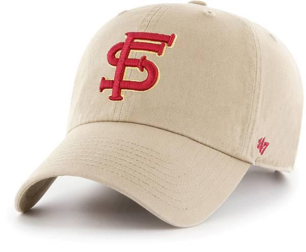 '47 Men's Florida State Seminoles Khaki Clean Up Adjustable Hat product image