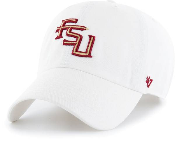 '47 Men's Florida State Seminoles Clean Up Adjustable White Hat product image