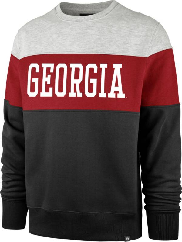 '47 Men's Georgia Bulldogs Black Co-Ed Crew Pullover Sweatshirt product image