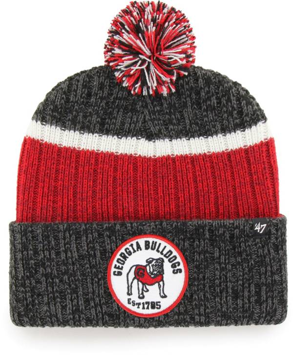 '47 Men's Georgia Bulldogs Holcomb Cuffed Knit Black Beanie product image