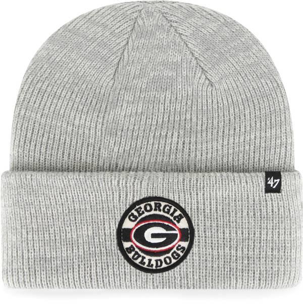 '47 Men's Georgia Bulldogs Grey Plainfield Cuffed Knit Beanie product image