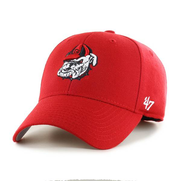 '47 Men's Georgia Bulldogs Red MVP Adjustable Hat product image
