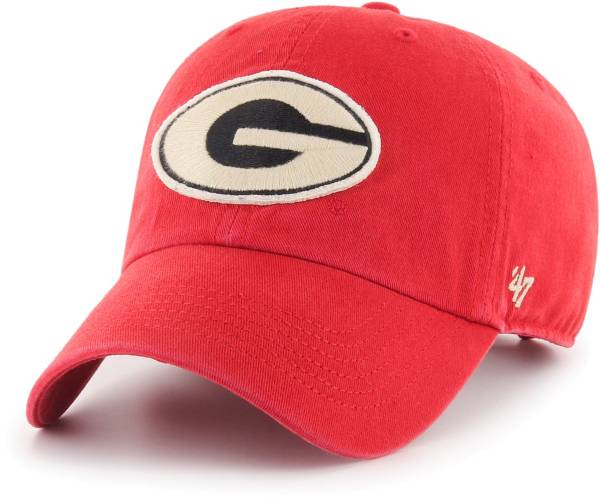 '47 Men's Georgia Bulldogs Red Hasket Clean Up Adjustable Hat product image