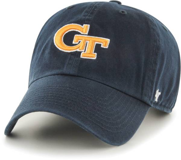 '47 Men's Georgia Tech Yellow Jackets Navy Clean Up Adjustable Hat product image