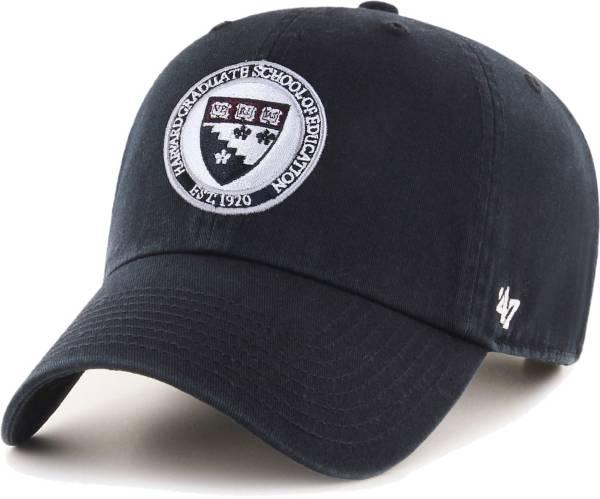 '47 Men's Harvard Crimson Clean Up Adjustable Black Hat product image