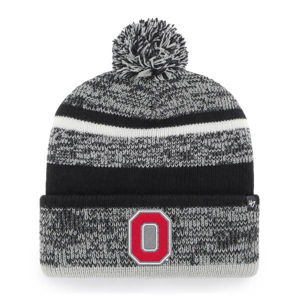 '47 Men's Ohio State Buckeyes Cuff Pom Knit Hat product image