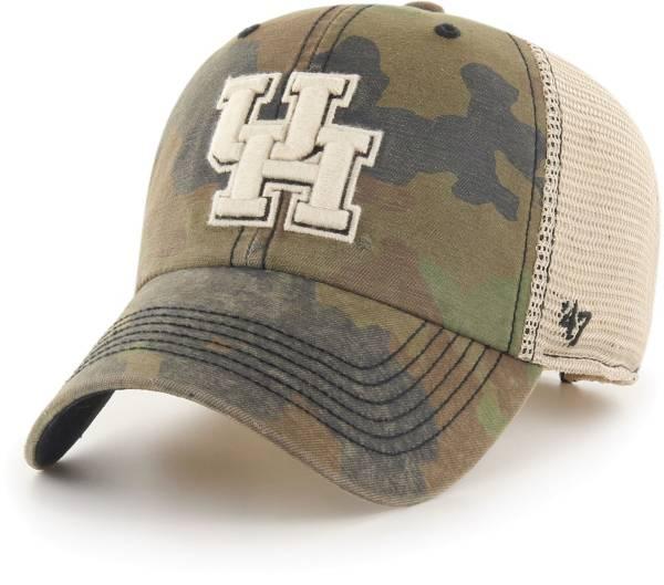 '47 Men's Houston Cougars Camo Burnett Clean Up Adjustable Hat product image