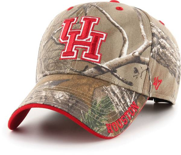 '47 Men's Houston Cougars Camo Realtree Frost MVP Adjustable Hat product image