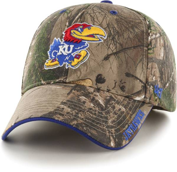 '47 Men's Kansas Jayhawks Camo Realtree Frost MVP Adjustable Hat product image