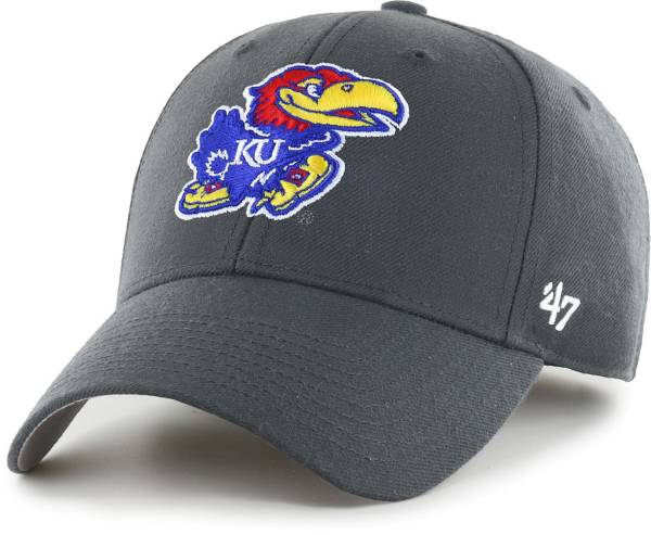 '47 Men's Kansas Jayhawks Grey MVP Adjustable Hat product image