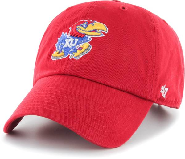 '47 Men's Kansas Jayhawks Crimson Clean Up Adjustable Hat product image