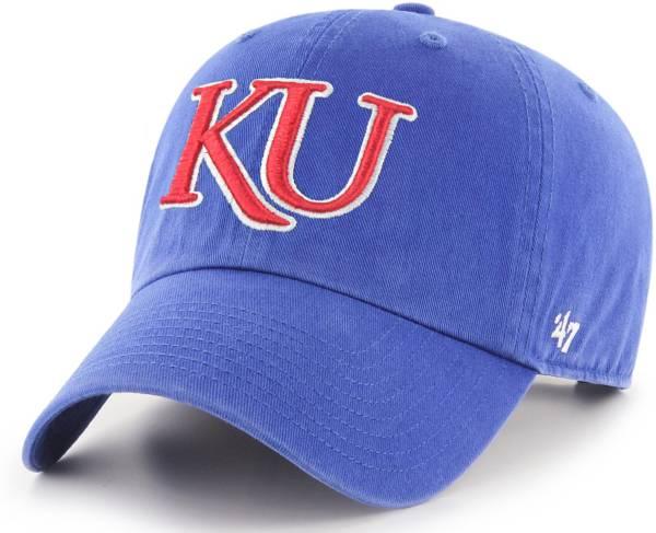 '47 Men's Kansas Jayhawks Blue Clean Up Adjustable Hat product image
